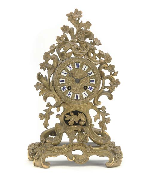 A Napoleon III small ormolu st