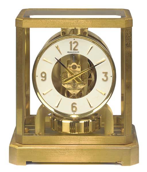 A Swiss brass Atmos timepiece, 1970s