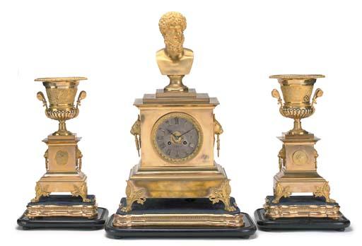 A French gilt-brass striking m