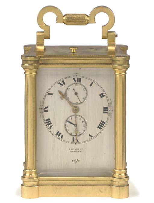 A Swiss small gilt-brass small