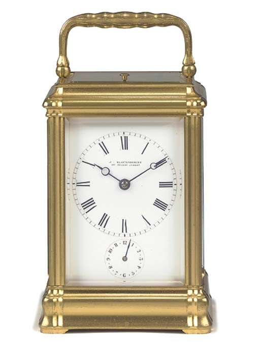A French gilt-brass petite son