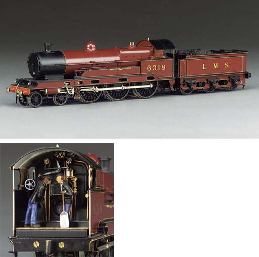 The LMS (ex-LNWR) 'Sir Gilbert Claughton' Class 5P 4-6-0 locomotive and tender No. 6018 'Private W.Woods VC',