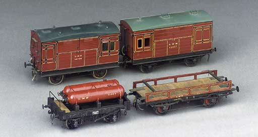 A collection of four LMS non-passenger coaching stock,