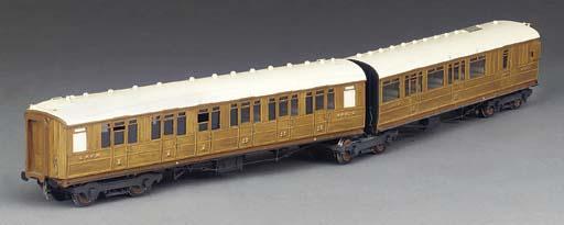 A LNER twin coach articulated set,
