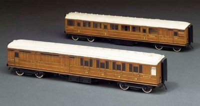 Two LNER twin bogie corridor c