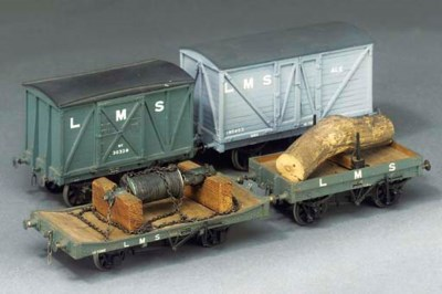 Four LMS freight vehicles,