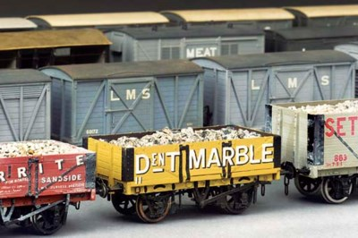 A collection of freight stock,