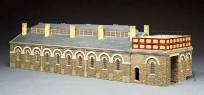The two road locomotive shed,