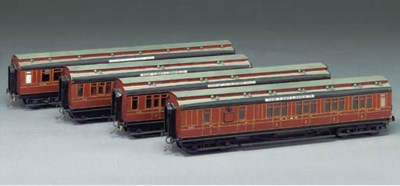 A rake of four LMS (ex-MR) cle