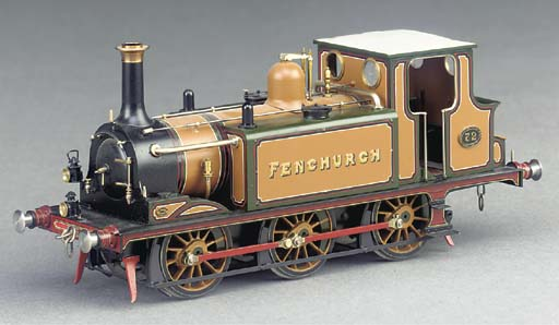 A finely detailed 7mm finescale 2-rail electric model fo the LBSCR 'Terrier' side tank locomotive No.72 'Fenchurch' built by A.J. Fabbrini,