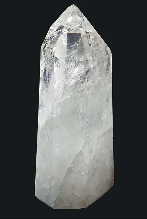 A large polished rock crystal