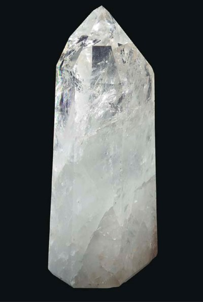 A large polished rock crystal