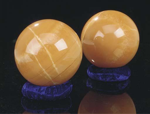 An unusual pair of orange calc