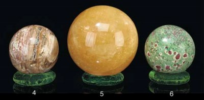 A large calcite sphere,
