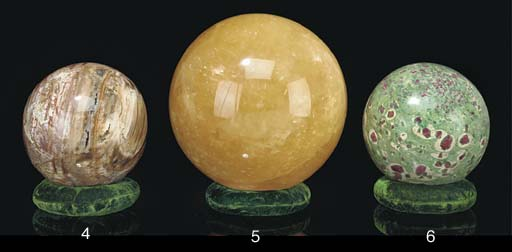 A large ruby in zoisite sphere
