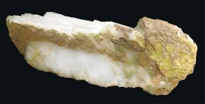 A large terminated quartz poin