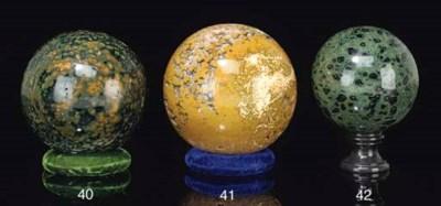 A rare kambaba jasper sphere,