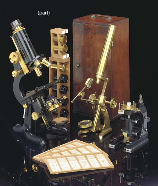 Two late 19th-Century microsco