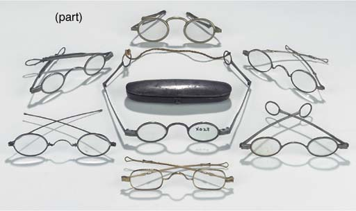A collection of spectacles,