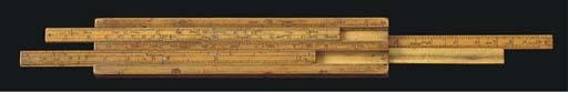 An unusual 18th-Century English boxwood slide-rule,