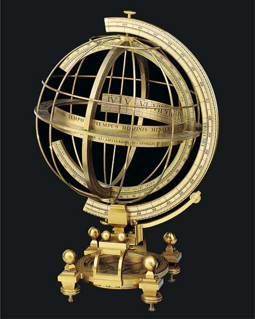 A 20th-Century brass armillary