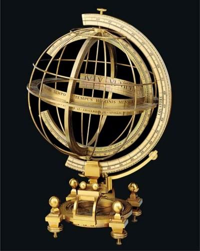 A 20th-Century brass armillary
