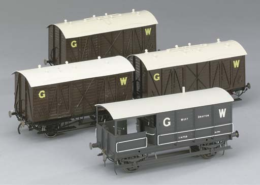 Four G.W.R. goods vehicles