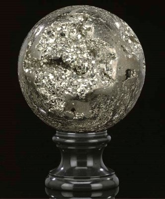 A large pyrite sphere,
