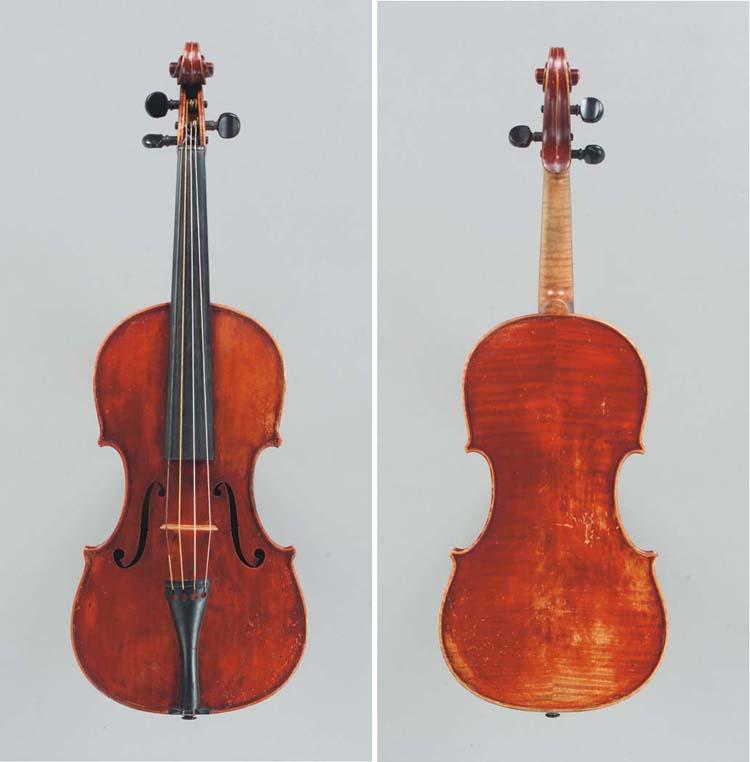 An English Violin by A. Warric