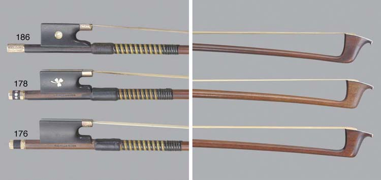 A gold-mounted Violin Bow by James Tubbs