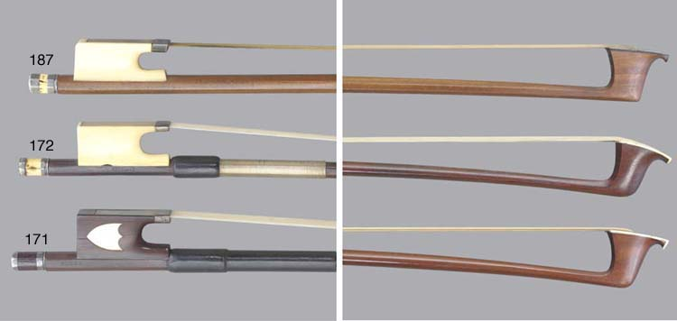 A silver and ivory-mounted violin Bow by T. Tubbs