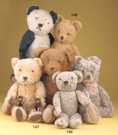 A rare Merrythought teddy bear