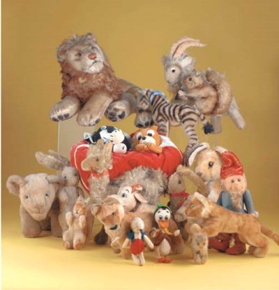 Various soft toys