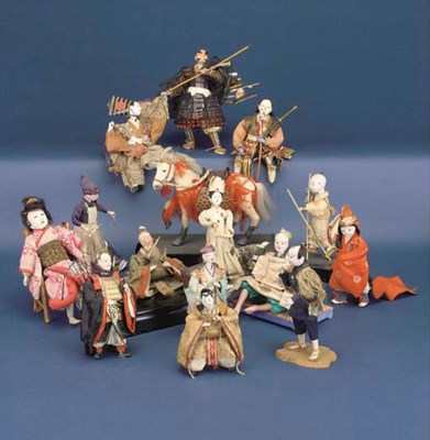 A quantity of Japanese dolls a