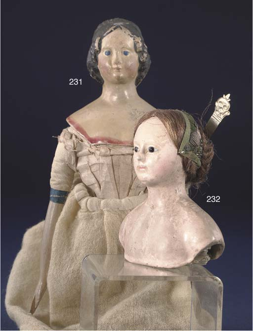 A rare papier-mache doll's sho