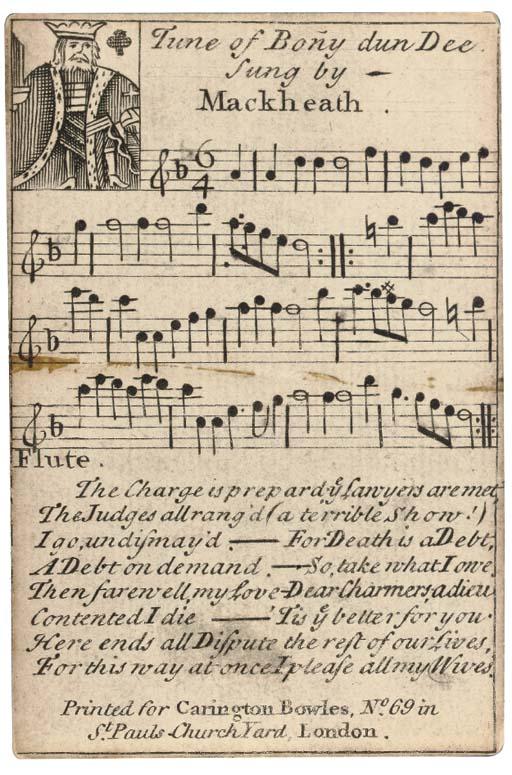 A rare set of Beggar's Opera p