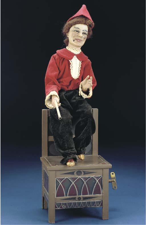 A Vichy clown juggler automato