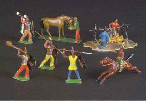 Heyde 48mm Red Indian figures