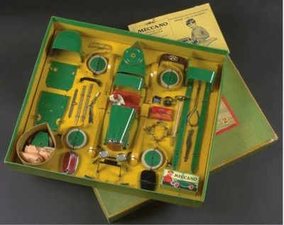 A Meccano  green and yellow No