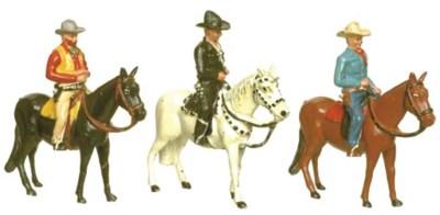 Timpo Hopalong Cassidy mounted