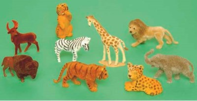 Wendal Plastic Zoo Animals 	 (