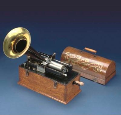 An Edison 'Suitcase' Home Phon