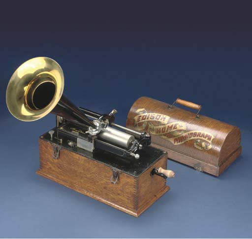 An Edison 'Suitcase' Home Phonograph