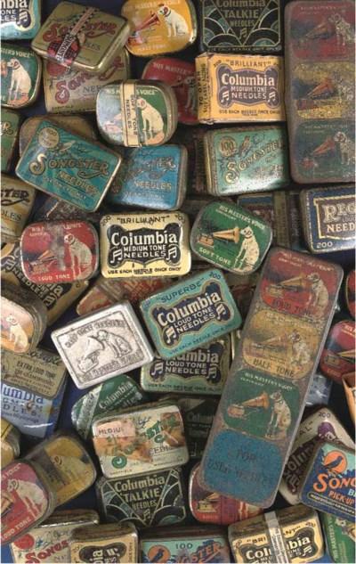 56 gramophone needle tins
