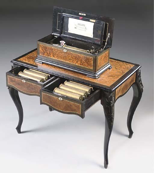 A Paillard Interchangeable cylinder musical box