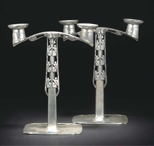 ARCHIBALD KNOX; PAIR OF TWIN B
