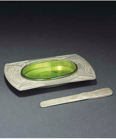 ARCHIBALD KNOX; BUTTER DISH