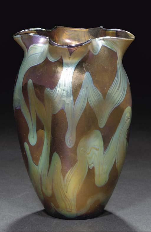 A Loetz iridescent glass vase