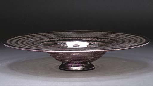 A DAUM ACID-ETCHED GLASS BOWL