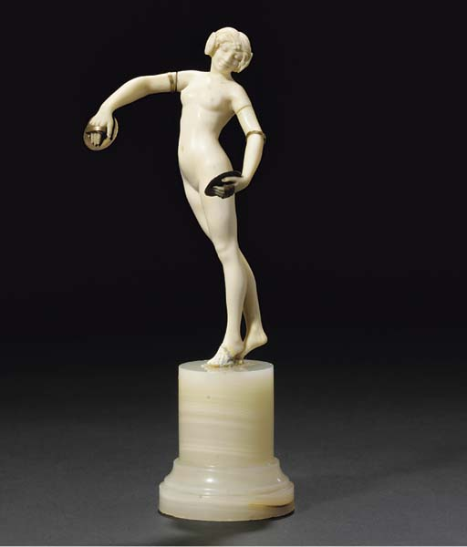 'Cymbals Dancer' an ivory and